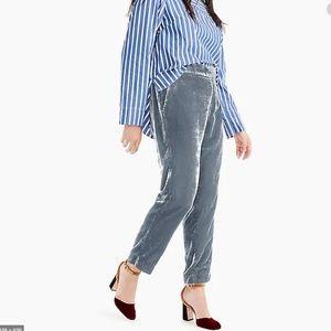 J.Crew 12T Womens Tall Easy Pull On Pants Velvet